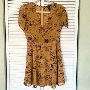 Forever 21 v neck floral dress